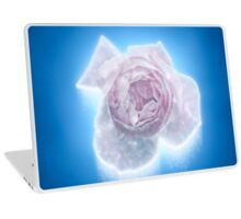 Digitally manipulated exploding Pink English rose as seen from above  Laptop Skin