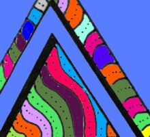 Triangle - Rainbow Sticker