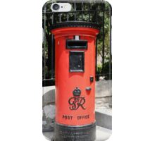 George Postbox Red iPhone Case/Skin