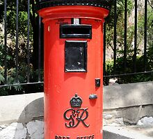 George Postbox Red by ksfineart