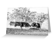 All in Brawl Greeting Card