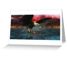 Eagle Fisher  Greeting Card