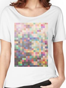 Pattern 039 Rainbow Multicolor Faded Women's Relaxed Fit T-Shirt