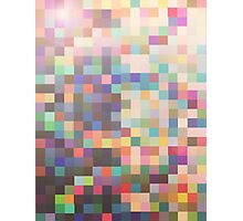 Pattern 039 Rainbow Multicolor Faded Photographic Print
