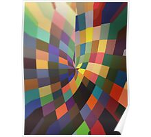 Pattern 040 Multi dimensional rainbow light room  Poster