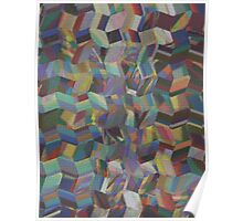 Pattern 041 abstract rainbow Painting Bricks Poster