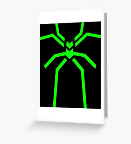 Stealth Spider Green Greeting Card
