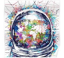 astronaut world map 3 Poster