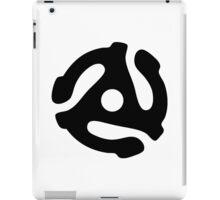 Record adapter (black) iPad Case/Skin