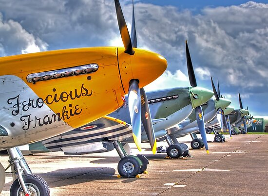 Warbird Flighline - Duxford 2014 - HDR by Colin J Williams Photography