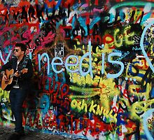 Prague: The John Lennon Wall by Geoffrey Grinton