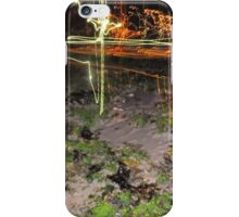 Beach light trail 2 iPhone Case/Skin