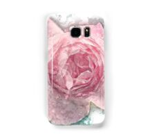 Digitally manipulated painting of a Pink English rose as seen from above  Samsung Galaxy Case/Skin