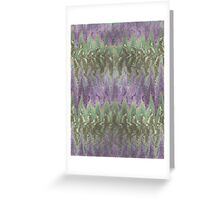 Pattern 042 Ripple Colorful Purple Waves, Green Greeting Card