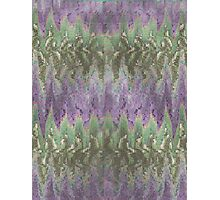 Pattern 042 Ripple Colorful Purple Waves, Green Photographic Print