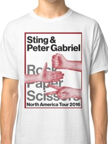 PETER GABRIEL STING ROCK PAPER SCISSORS 2016 Classic T-Shirt