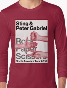 PETER GABRIEL STING ROCK PAPER SCISSORS 2016 Long Sleeve T-Shirt