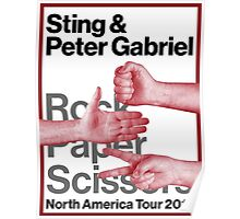 PETER GABRIEL STING ROCK PAPER SCISSORS 2016 Poster