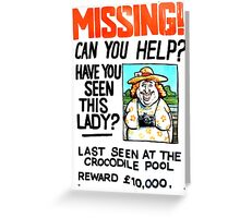 Last Seen at the Crocodile Pool Greeting Card