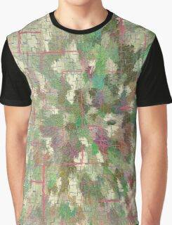 Pattern 043 Chinese Inspired Map, Dungeon Forest Graphic T-Shirt