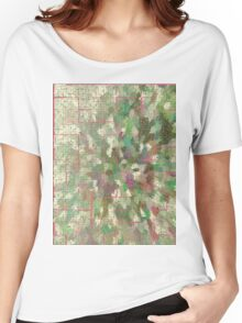 Pattern 043 Chinese Inspired Map, Dungeon Forest Women's Relaxed Fit T-Shirt