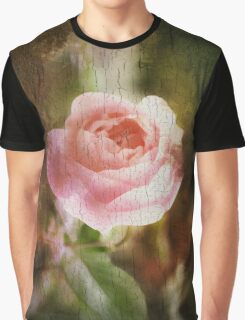 Computer generated old painting of a pink rose  Graphic T-Shirt