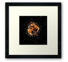 Digitally created Exploding supernova star  Framed Print