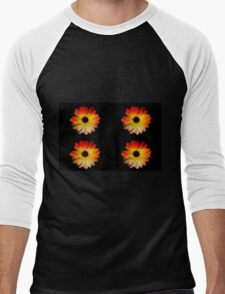 Bright flowers in the summer Men's Baseball ¾ T-Shirt