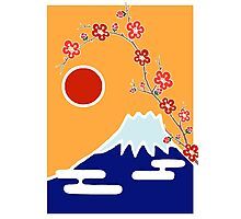 Mount Fuji in Spring Photographic Print
