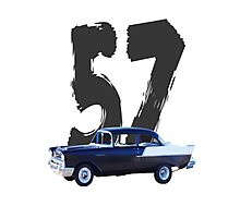 57 Chevy - Shirts, Prints, Cards, Sleeves Photographic Print