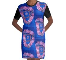 Satin Bows Graphic T-Shirt Dress