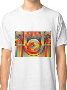 Abstract Rainbow Circle Pattern Classic T-Shirt
