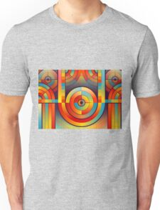 Abstract Rainbow Circle Pattern Unisex T-Shirt