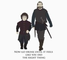 Bronn & Tyrion (Game of Thrones) Minimal - Go Drink by Posteritty