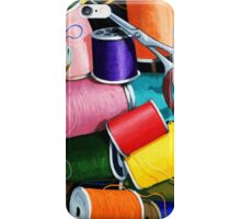 Threads - Colorful Sewing Thread painting iPhone Case/Skin