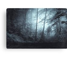 Blue Mystic Forest Canvas Print
