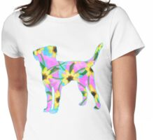 Labrador Retriever Watercolor Sunflowers Womens Fitted T-Shirt