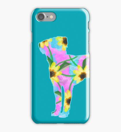 Labrador Retriever Watercolor Sunflowers iPhone Case/Skin