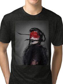 BJORK RED EYES Tri-blend T-Shirt