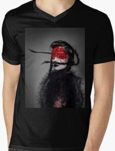 BJORK RED EYES Mens V-Neck T-Shirt