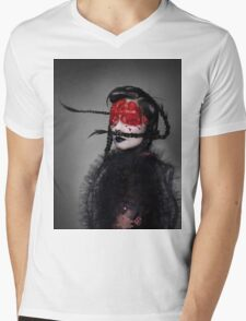 BJORK RED EYES Mens V-Neck T-Shirt