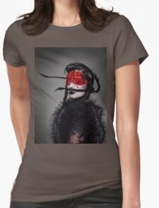 BJORK RED EYES Womens Fitted T-Shirt