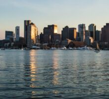 Skyline of Boston Sticker