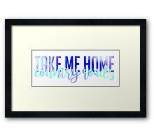 west virginia wvu take me home home country roads Framed Print