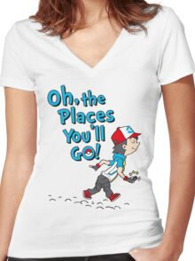 Go Trainer Go! Women's Fitted V-Neck T-Shirt