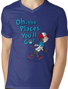 Go Trainer Go! Mens V-Neck T-Shirt