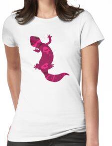 Pink Leopard Gecko  Womens Fitted T-Shirt