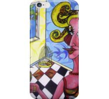 Bird lady iPhone Case/Skin