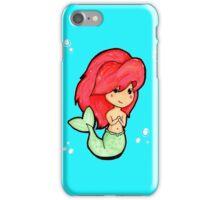 Chibi 'Lil Mermaid - original marker illustration iPhone Case/Skin