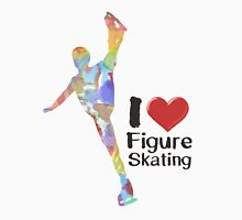 Rainbow I heart Figure Skating  Unisex T-Shirt
